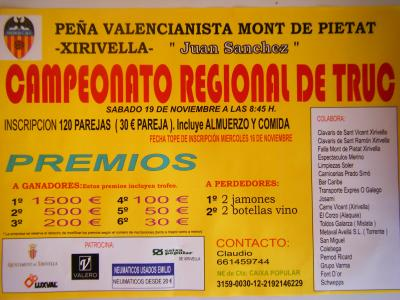 CAMPEONATO REGIONAL DE TRUC.